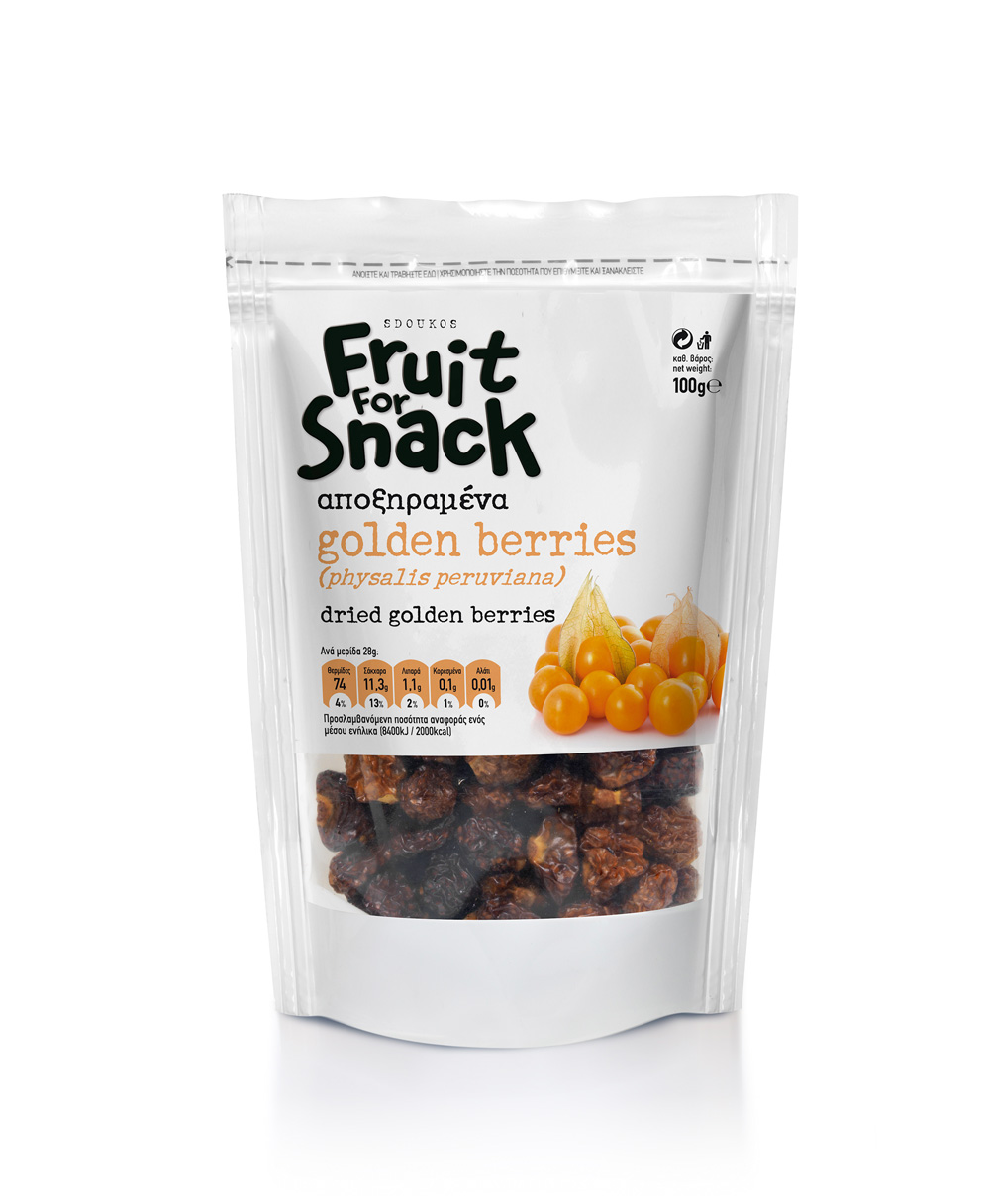 """Fruit for Snack"" Golden Berry Αποξηραμένο 100γρ"